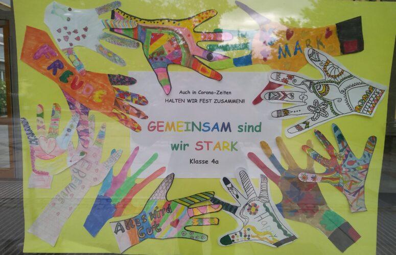 Gemeinschaftsarbeit in Kunst - Klasse 4a