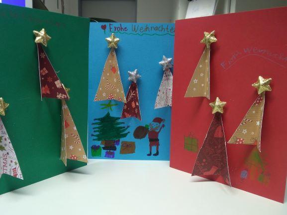 Weihnachtskarten für die Schulfamilie